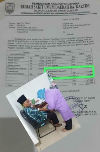 Biaya Surat Keterangan Sehat Bacaleg Di Rsud Jepara Dinilai